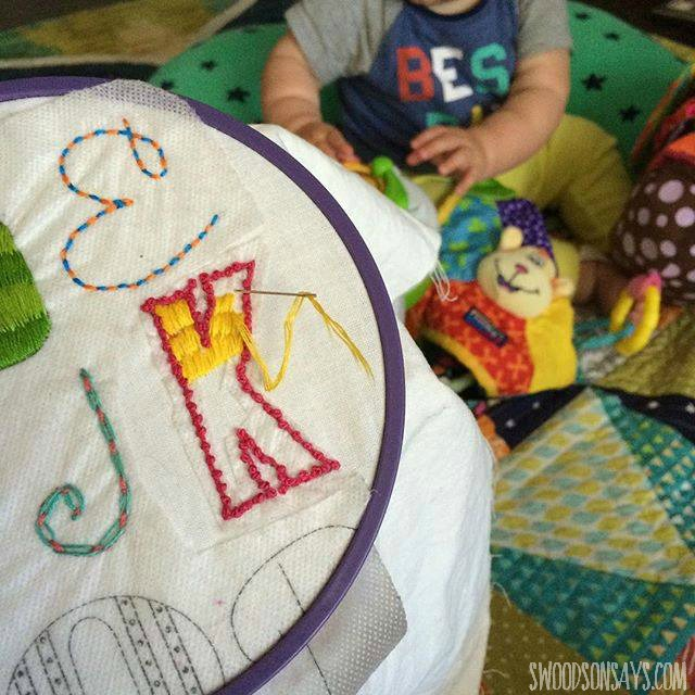 Embroidering with kids