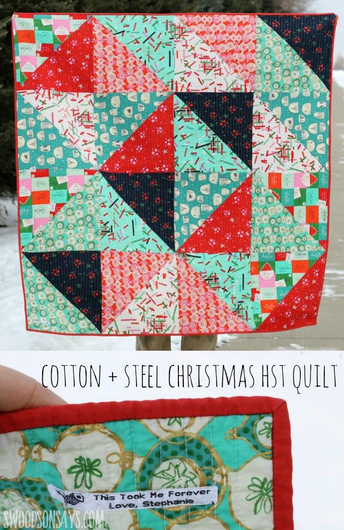 Cotton + Steel Tinsel Christmas HST Quilt - Swoodson Says : hst quilt - Adamdwight.com