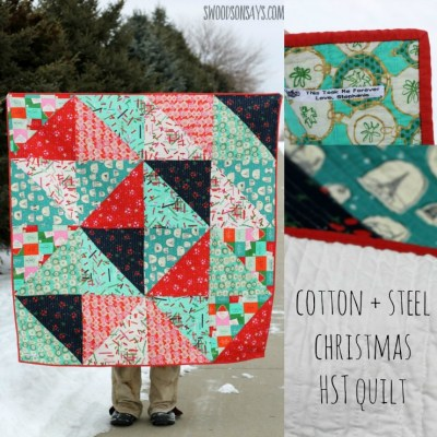 Cotton + Steel Tinsel Christmas HST Quilt