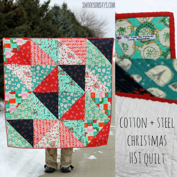Cotton + Steel Tinsel Christmas HST Quilt - Swoodson Says : cotton theory quilting video - Adamdwight.com