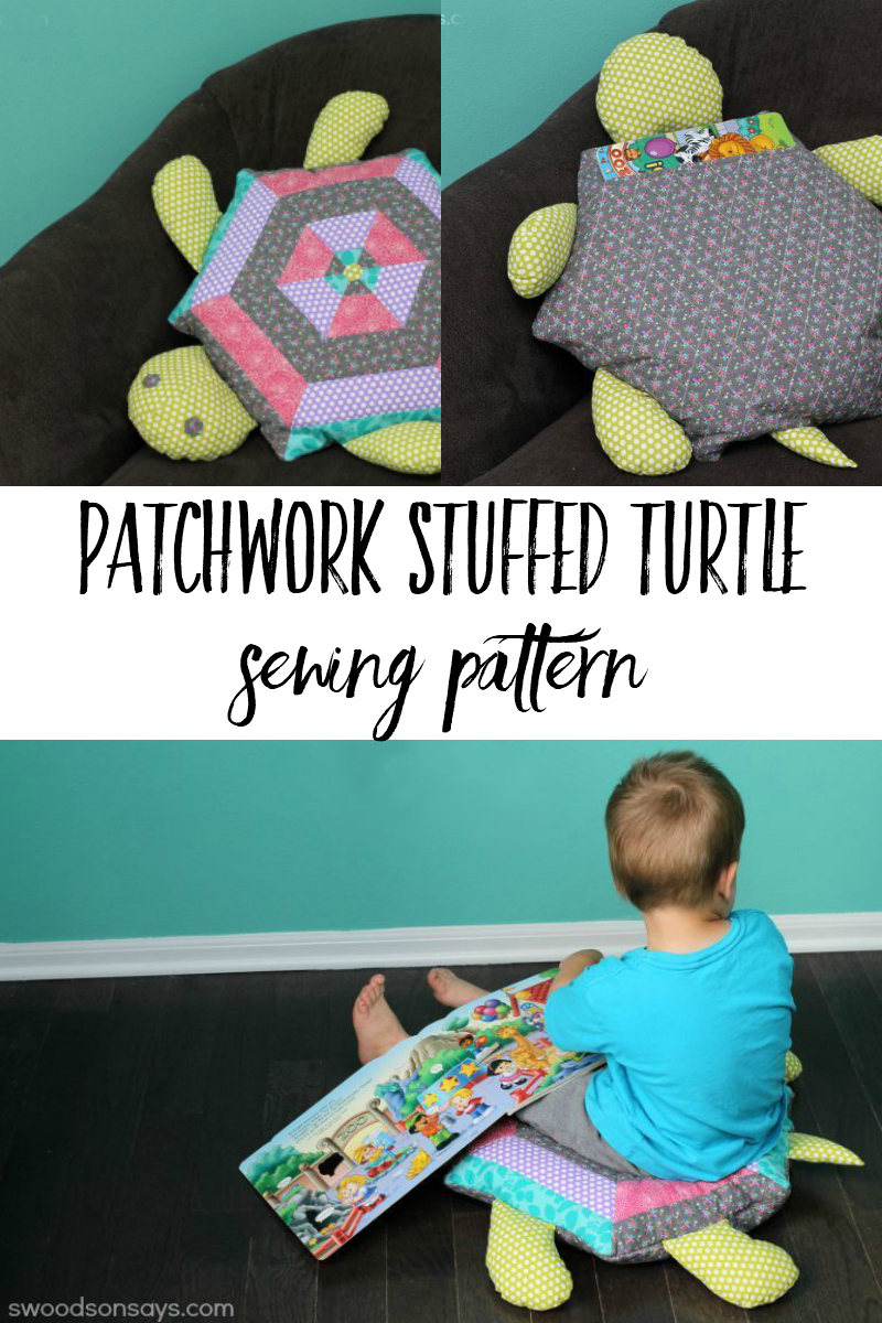 turtle floor pillow sewing pattern