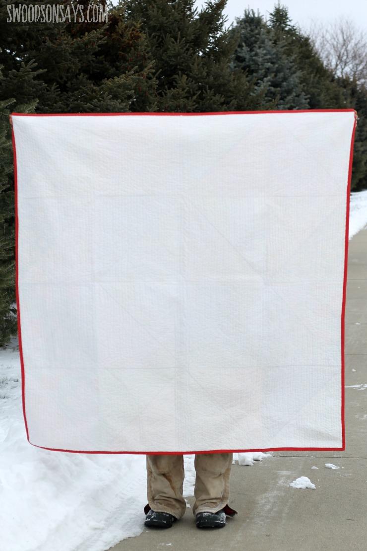 white quilt back
