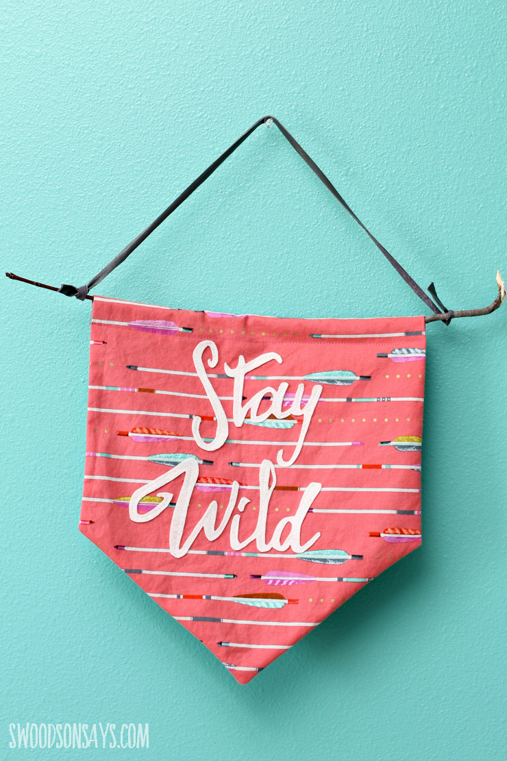 Adventure Flags - Stay Wild Geometric Pennant