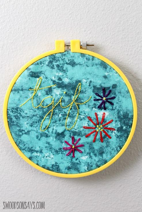 TGIF sassy embroidery pattern