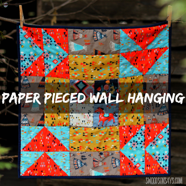 Paper Pieced Wall Hanging Over Sized Quilt Block In