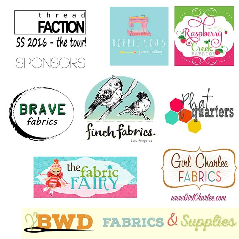 Thread Faction SS2016 Blog Tour Sponsors