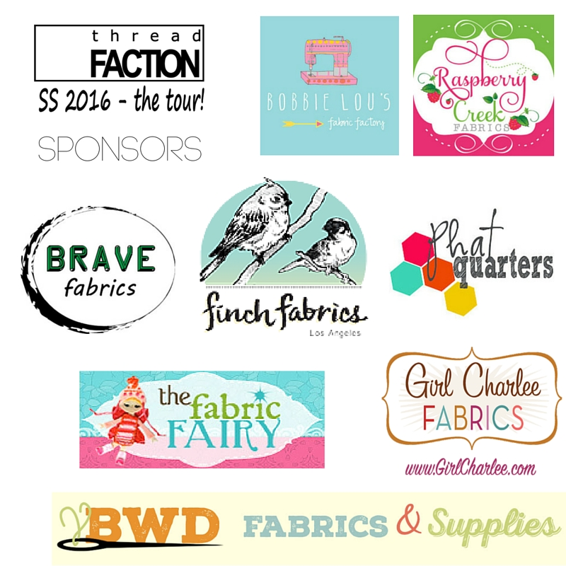 Thread Faction SS2016 Blog Tour Sponsors