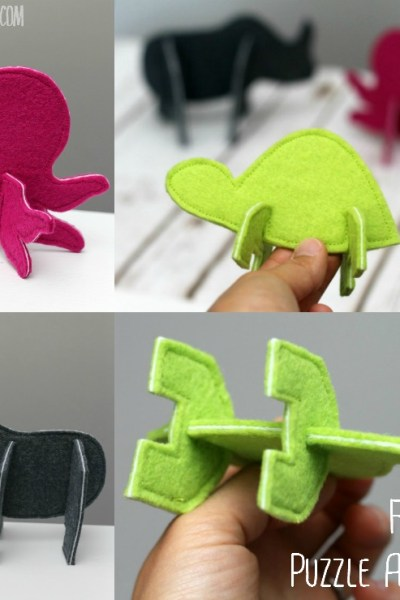 These 3D Puzzle Animals are so much fun to build with - and fast to sew! Perfect handmade toy for little hands.