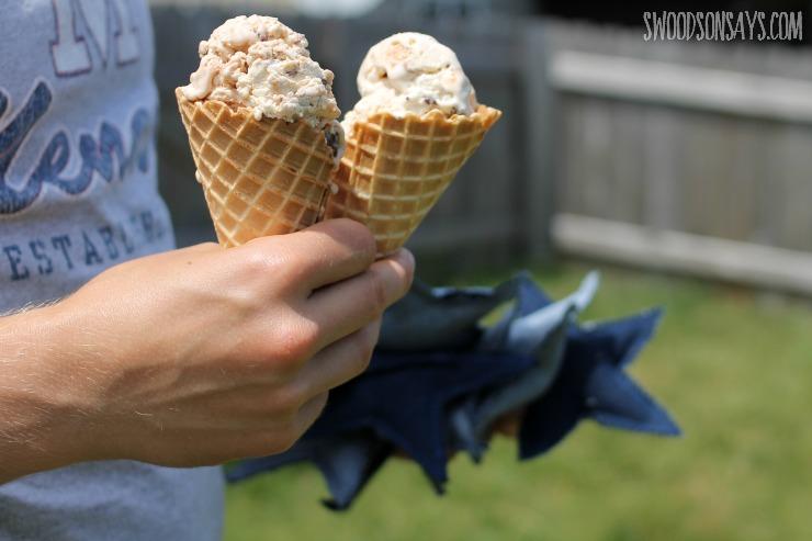 ice cream shot