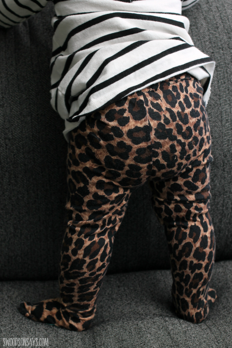 leopard baby tights