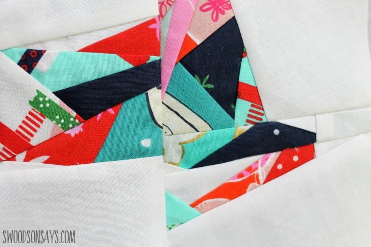 christmas fabric paper piecing