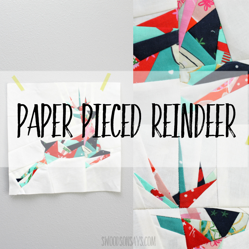 Paper Pieced Geometric Reindeer Swoodson Says