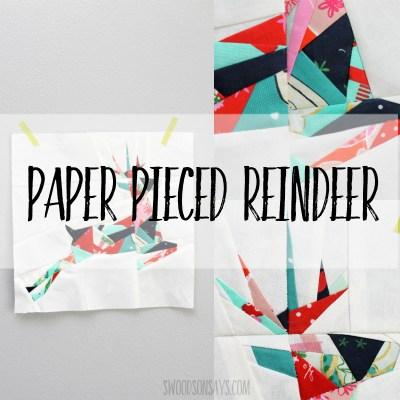 Paper Pieced Geometric Reindeer