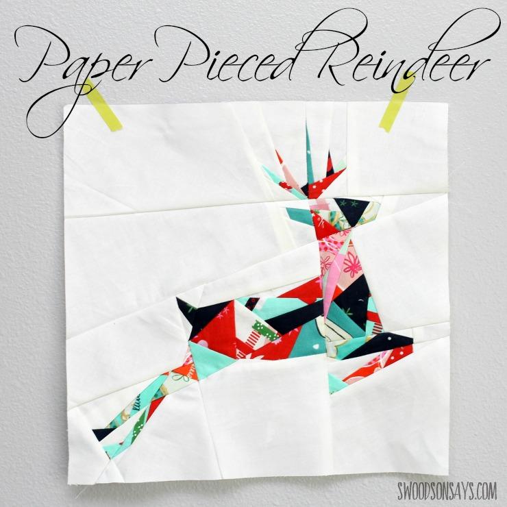 paper pieced reindeer