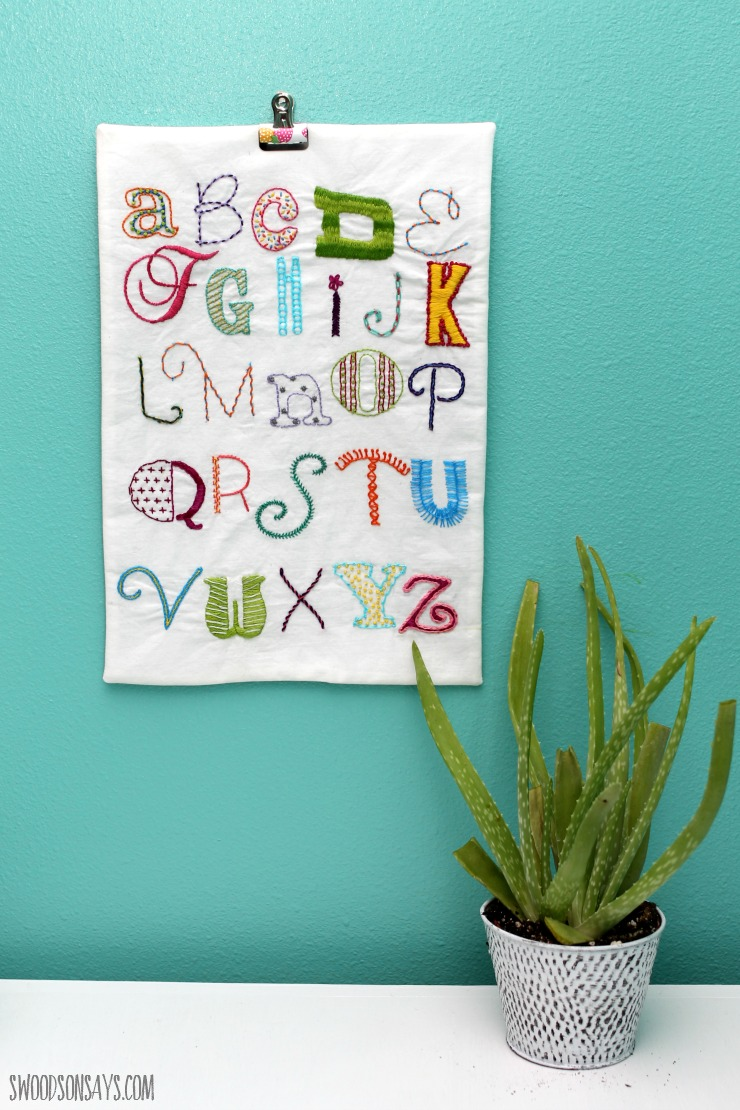 In reflecting on the alphabet embroidery sampler project, there are 3 main  things that I wish I'd done differently: