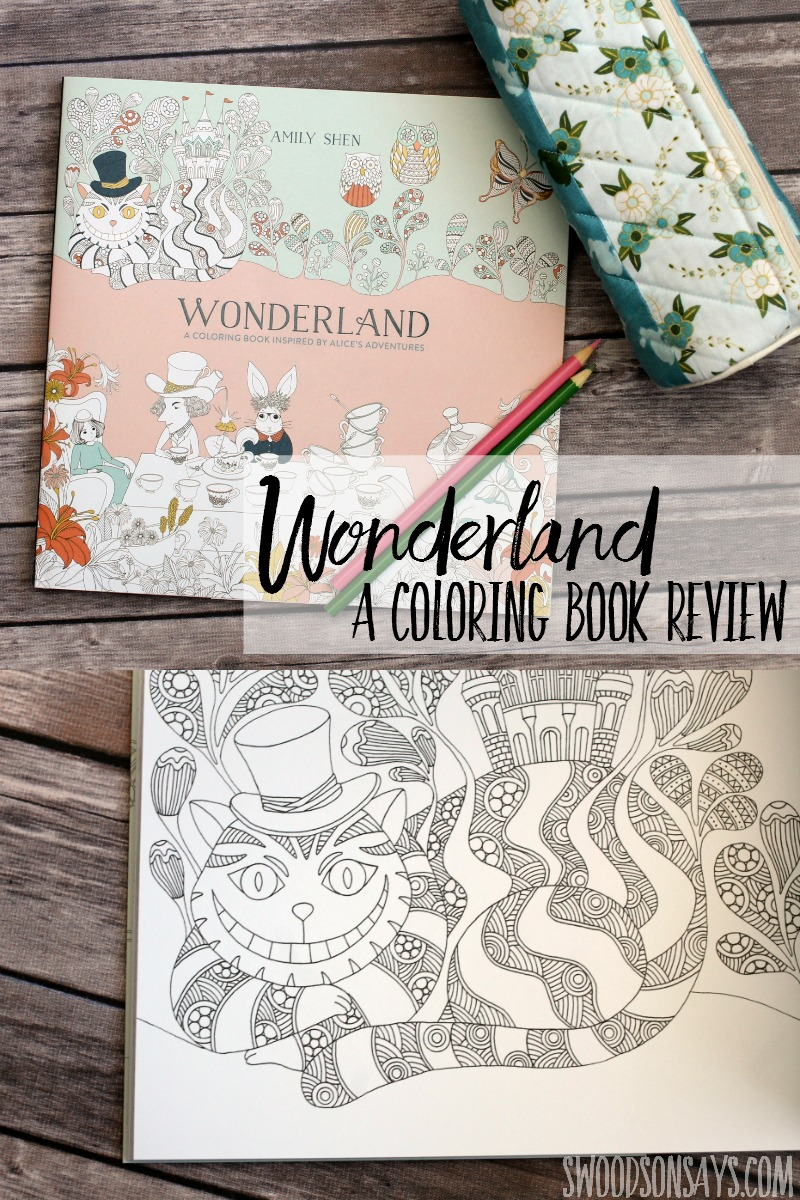 wonderland a coloring book inspired by alice u0027s adventures book