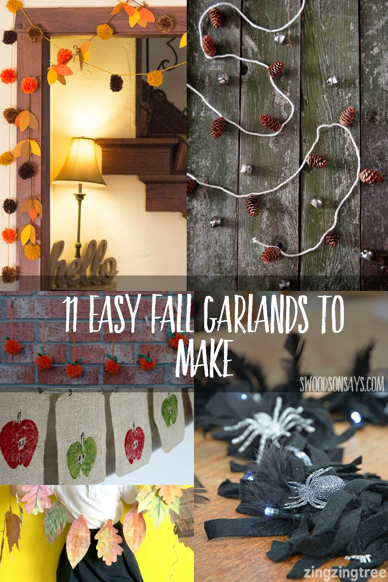 Get in the festive fall mood, with these easy DIY garland ideas! From leaves to Halloween ghosties, you'll love these craft ideas.