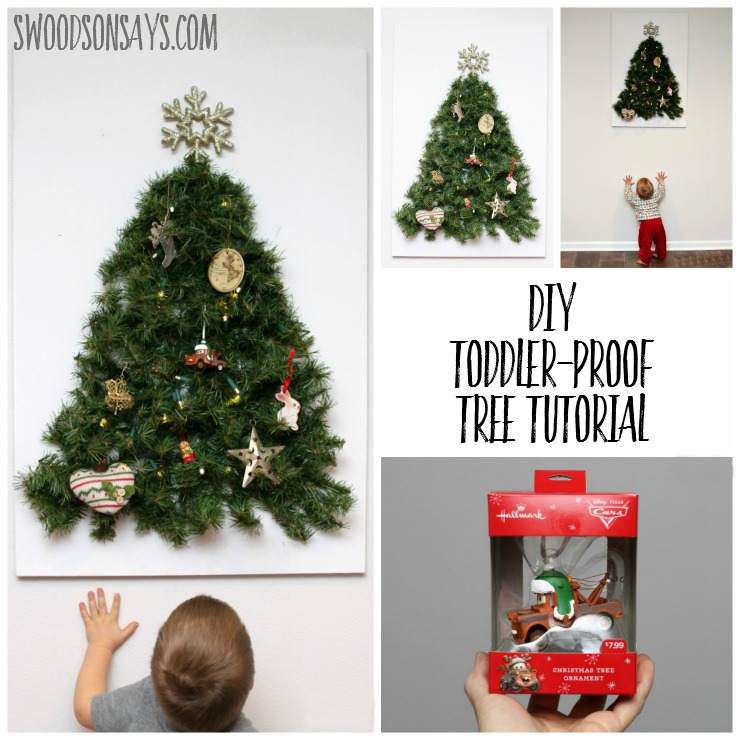 how to make a diy toddler friendly christmas tree keep your fun ornaments as decoration - Child Proof Christmas Tree Decorations