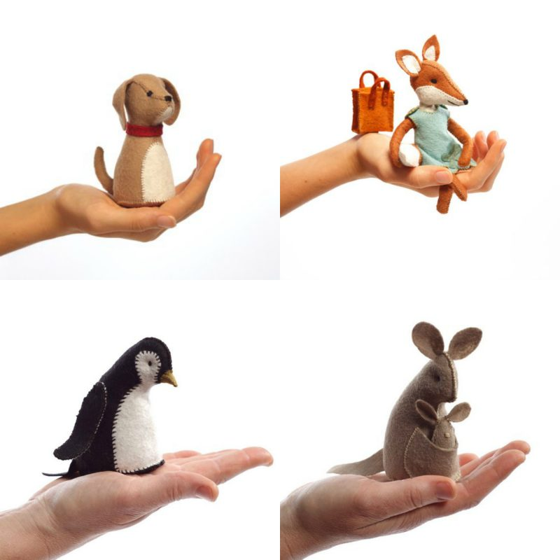 felt animal hand sewing kits