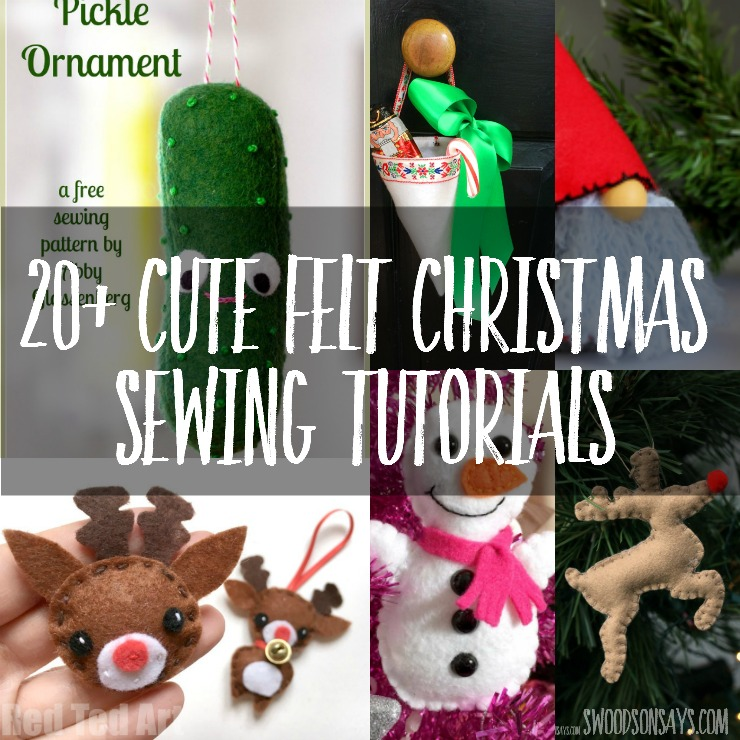 Looking for cute felt Christmas sewing ideas? Here are a bunch of free sewing tutorials for softies and Christmas ornaments - get started!