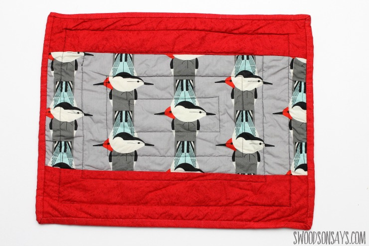 charley harper bird fabric in a quilt