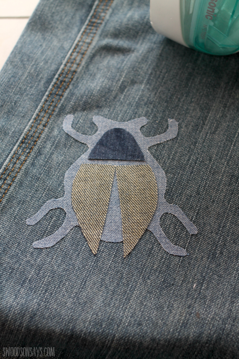 free beetle outline pattern