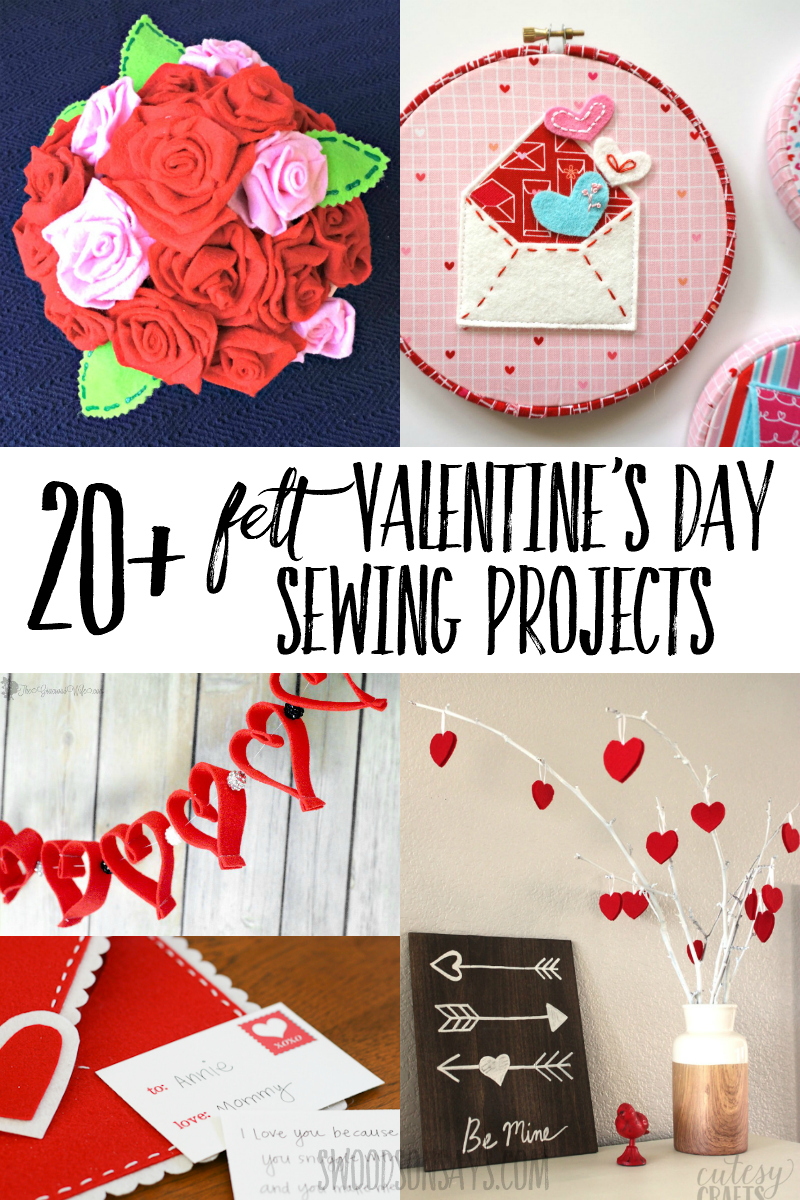 Bust out the glue gun and get festive with one of these felt Valentine's Day crafts! Fun felt sewing Valentine patterns and diy ideas.