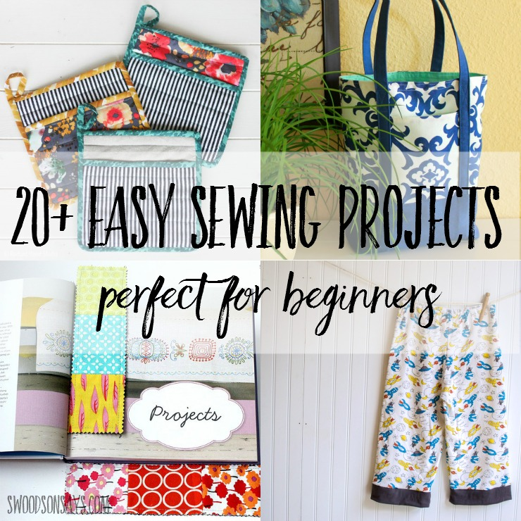 20  easy beginner sewing projects
