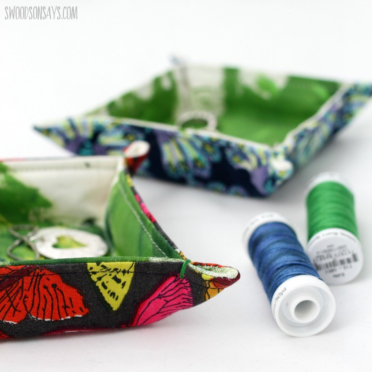 how to sew a fabric tray
