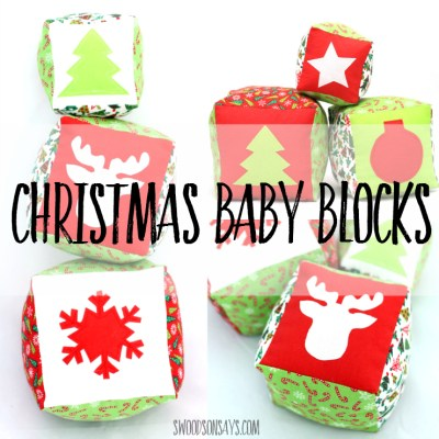 Christmas Baby Blocks Sewing Pattern