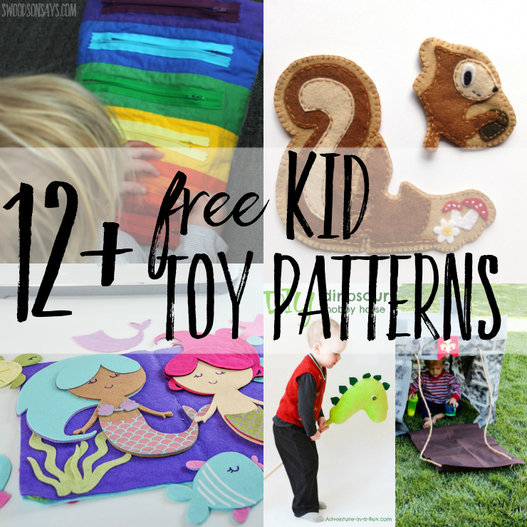 Looking for ideas on what to sew for kid gifts? I have 12+ free tutorials and Free Toy Sewing Patterns For Kids that will delight the toddlers and preschoolers in your life! Free toy sewing patterns don't have to be fussy, check these out and get making. #sewingkidsgifts #sewingtoys