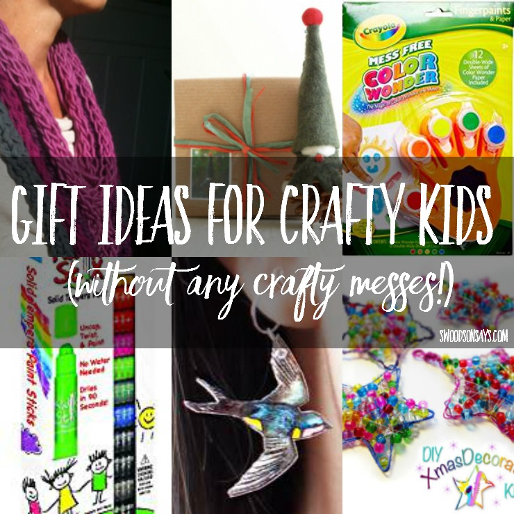 Looking for gift ideas to give crafty kids, without the big mess? I have rounded up a bunch of non-messy arts and crafts supplies and kits, perfect for gift giving. Ideas for all ages!
