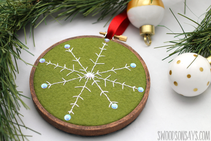 Free diy embroidered snowflake ornament pattern swoodson