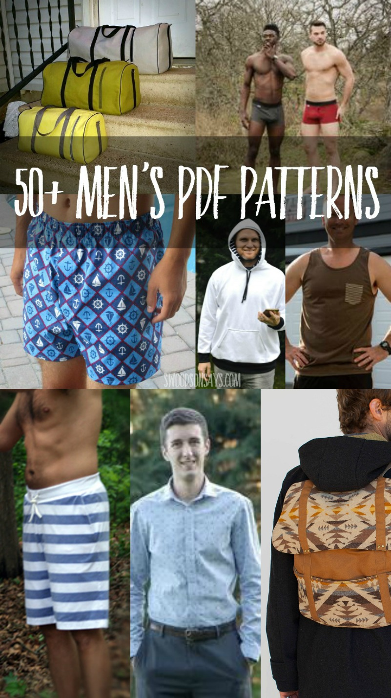 Sewing Patterns for men clothing