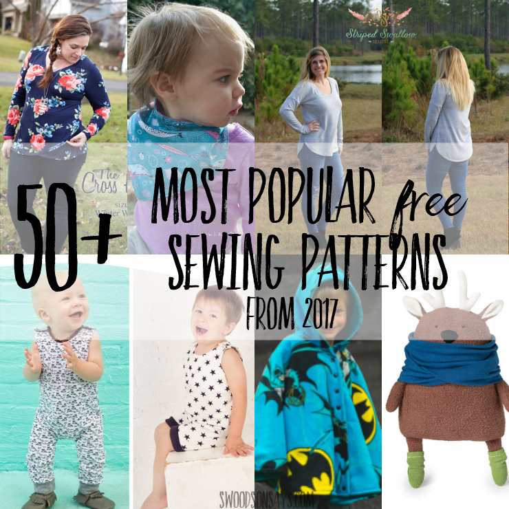 Check out this huge list of free pdf sewing patterns for kids, adults, home decor, softies, and accessories! All of your favorite designers shared what their most popular downloaded freebie was, and they're all in one spot for you to sew. #sewing #pdfpattern #freesewingpattern