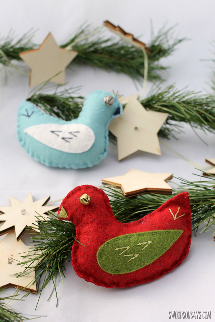 Felt Christmas Bird Pattern
