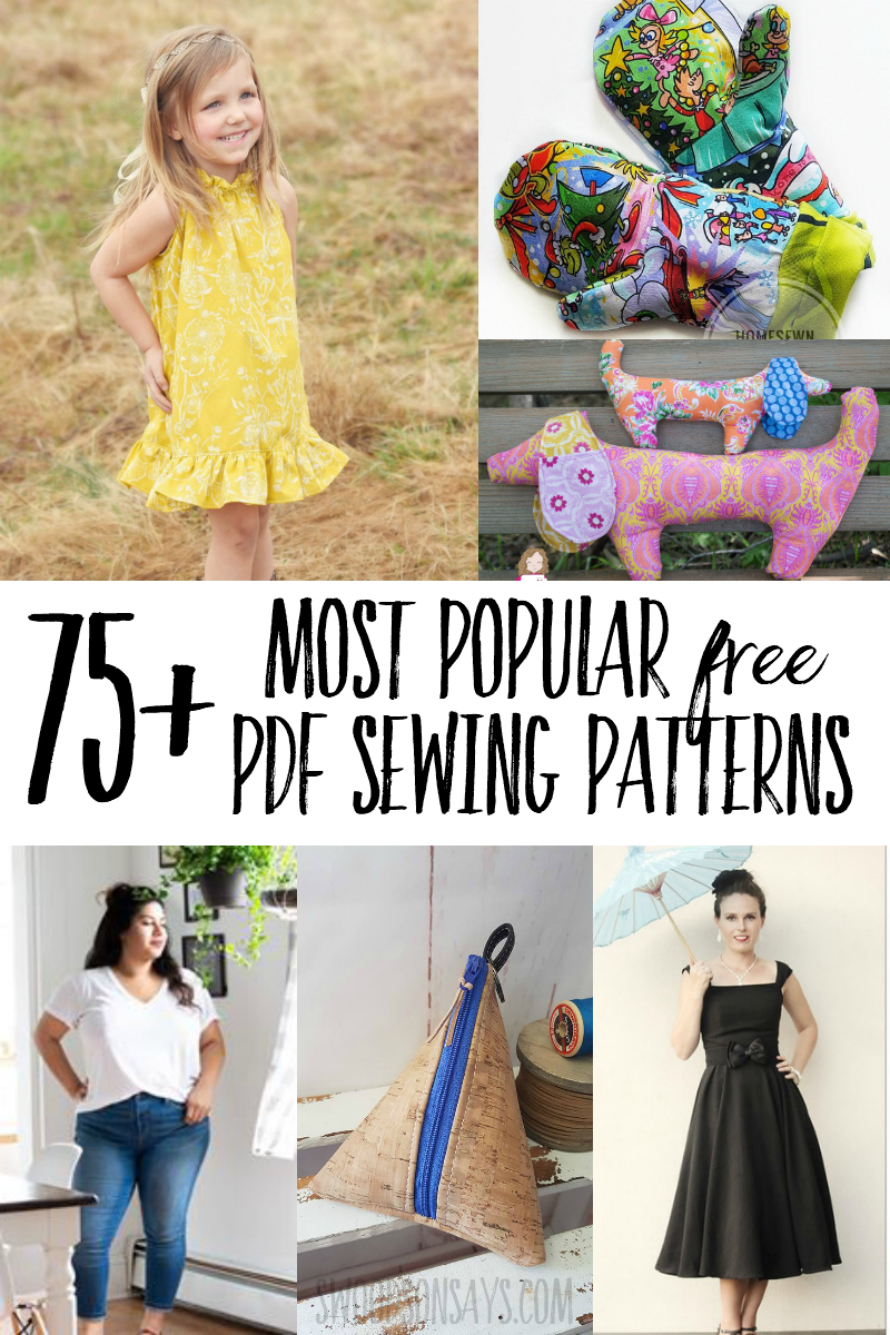 Check out this master list of the most popular free pdf sewing patterns from over 75 different designers! There are free sewing patterns for adults, kids, babies, and the home. Try a new designer; lots of free beginner sewing patterns included too!