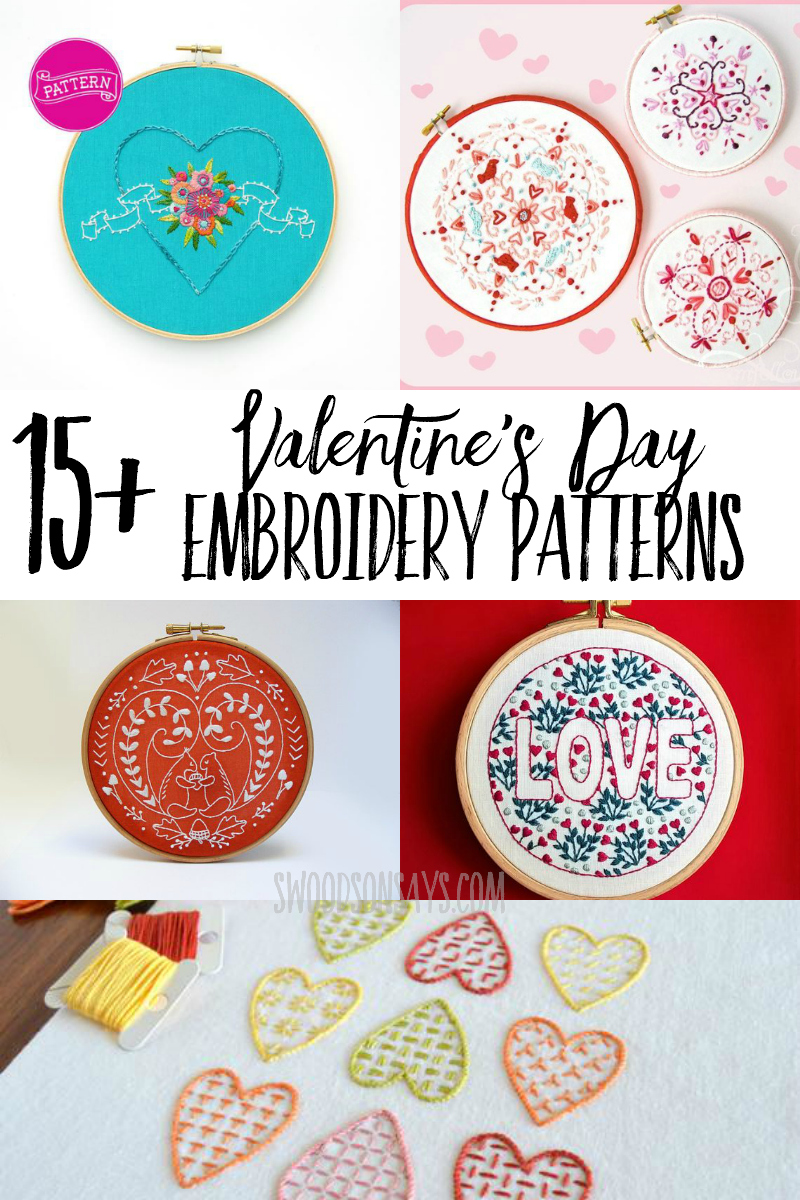 So many modern Valentine's Day patterns to choose from, and here is a curated list. Great Valentine's Day crafts to stitch and gift or hang on the wall.
