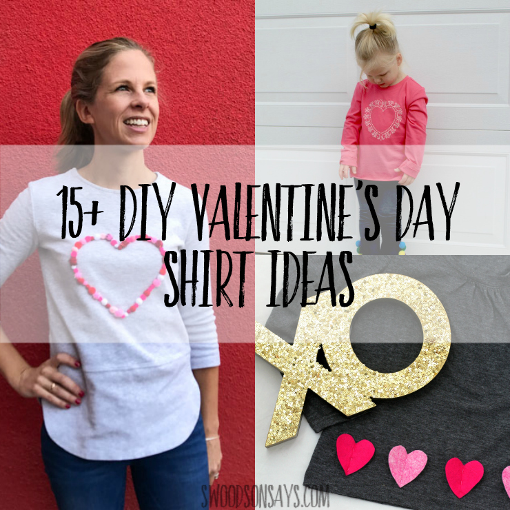 DIY Valentines day t shirts