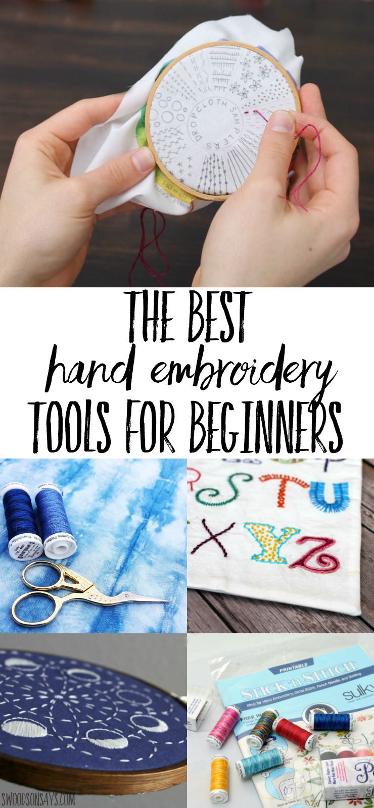 Overwhelmed with what to buy when learning how to embroider? Check out this list of best hand embroidery tools! What you need vs. what's nice to have, this list will have you ready to start embroidering! #embroidery #handsewing