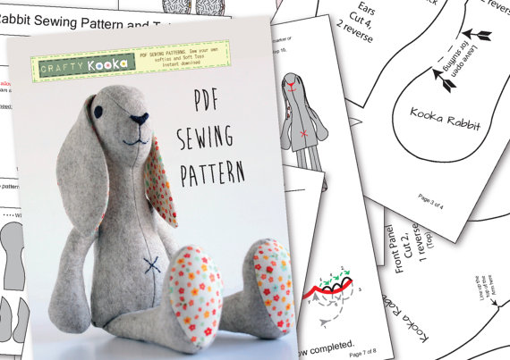 50+ Stuffed Bunny Sewing Patterns - Swoodson Says