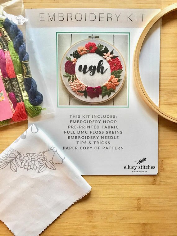 The best modern embroidery kits for beginners - Swoodson Says