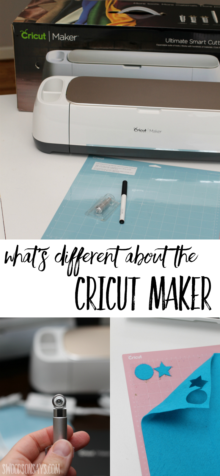 Wondering what is the difference between the Cricut Maker and older models? Looking for a thorough Cricut Maker review? Check out this post sharing the pros and cons of the new machine, how it compares to the Explore Air 2, and see thoughts on the new fabric washable pen. See a test of several types of fabric that it can cut, too! The new digital cutting machine on the block and why you should (or shouldn't) try it out. Sponsored post by Cricut #ad #cricut #cricutmaker
