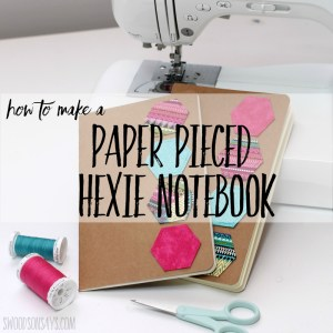 DIY paper pieced hexagon notebook