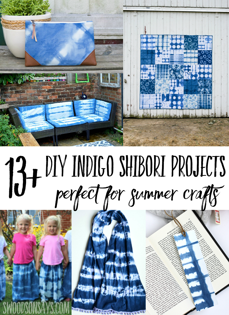 Check out over 13 fresh indigo shibori tutorials! This is a perfect summer tie dye project, working with indigo dye is soothing and fun. Grab a group of friends, pick a project and start experimenting with indigo shibori dyes. #shibori #indigodye #crafts