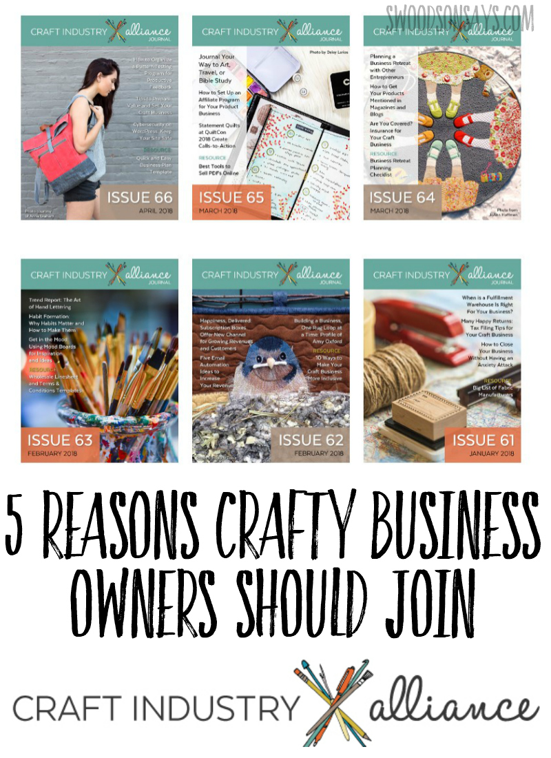 5 reasons bloggers and business owners should join the craft industry alliance. #blogging
