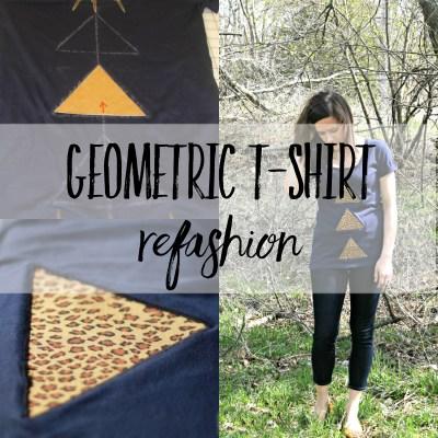 DIY Triangle Reverse Applique Shirt