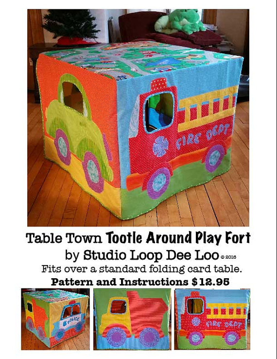 Card table playfort sewing pattern