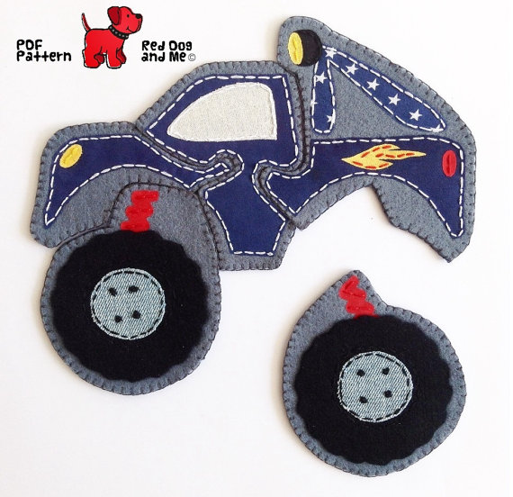Felt Monster Truck Puzzle Toy