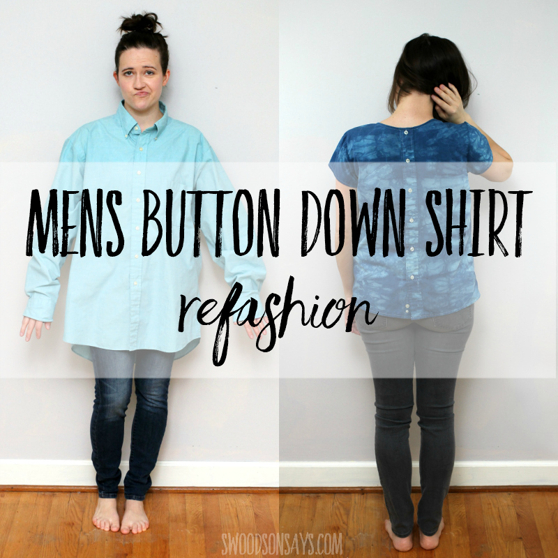 Men's button down shirt refashion tutorial